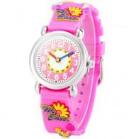 Analogowy zegarek kwarcowy na silikonowej bransolecie - Cheerleaderka (różowy)